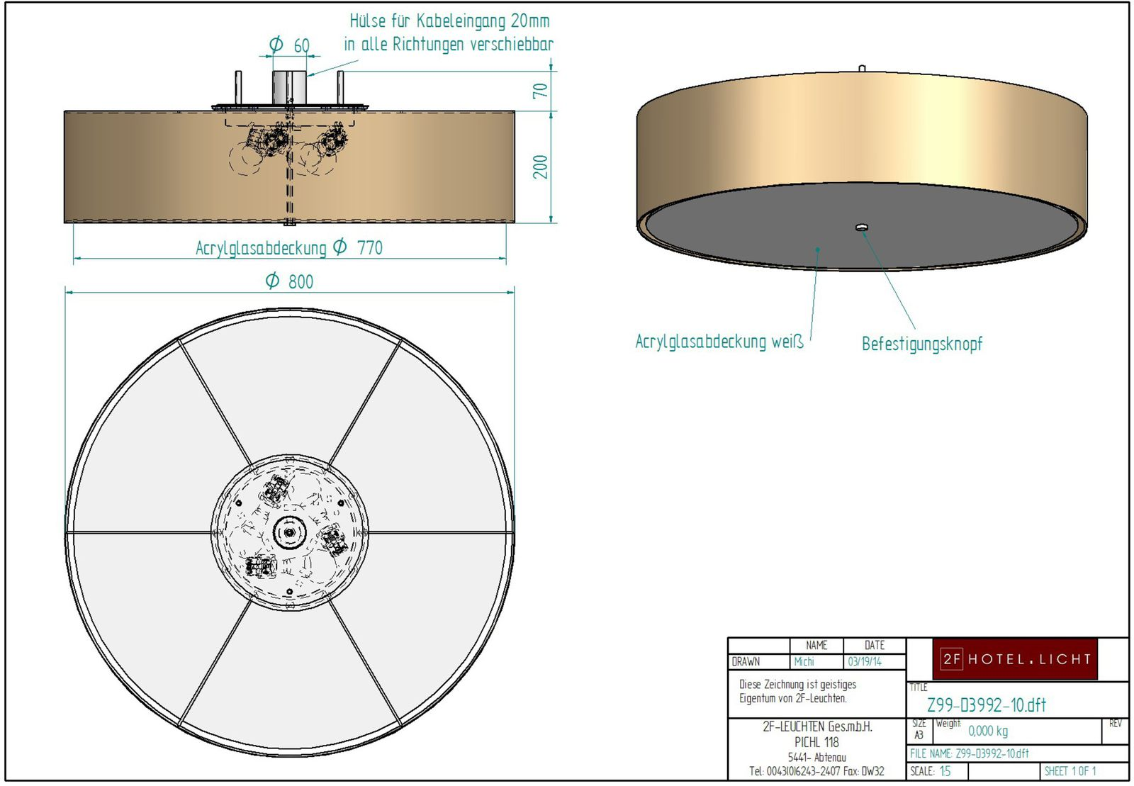 Ceiling lamp Ø=600/500 h=150 technical details: 4xE27 max.100W