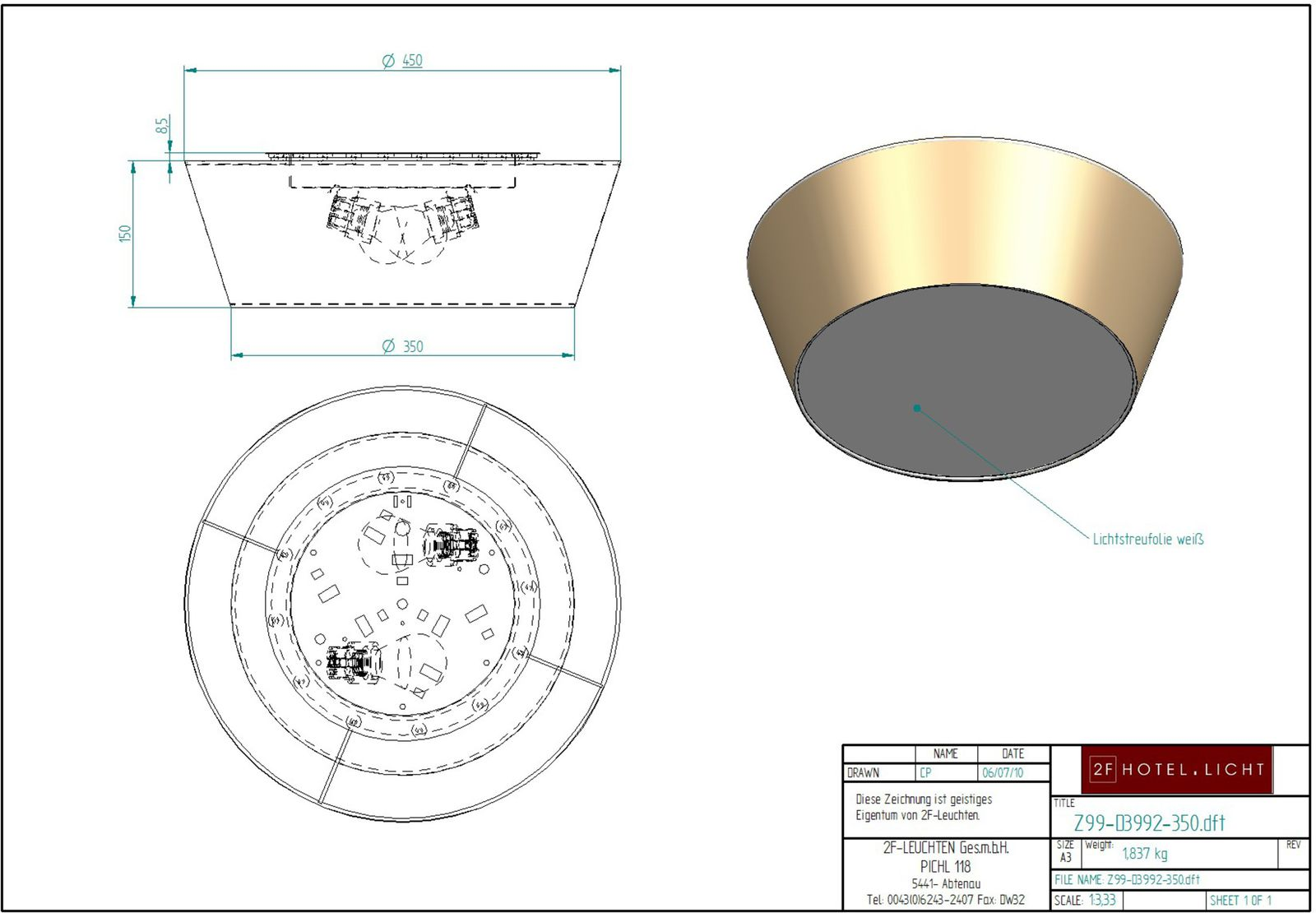 ceiling lamp, diameter= 350x450mm, height=150mm, technical details: 2xE27, 60W