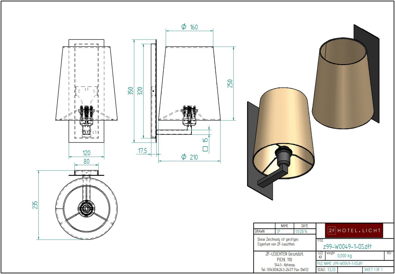 wall lamp, measure: 210mmx320mmx235mm, surface: black wrought iron, techn. details: 1xE27, 42W