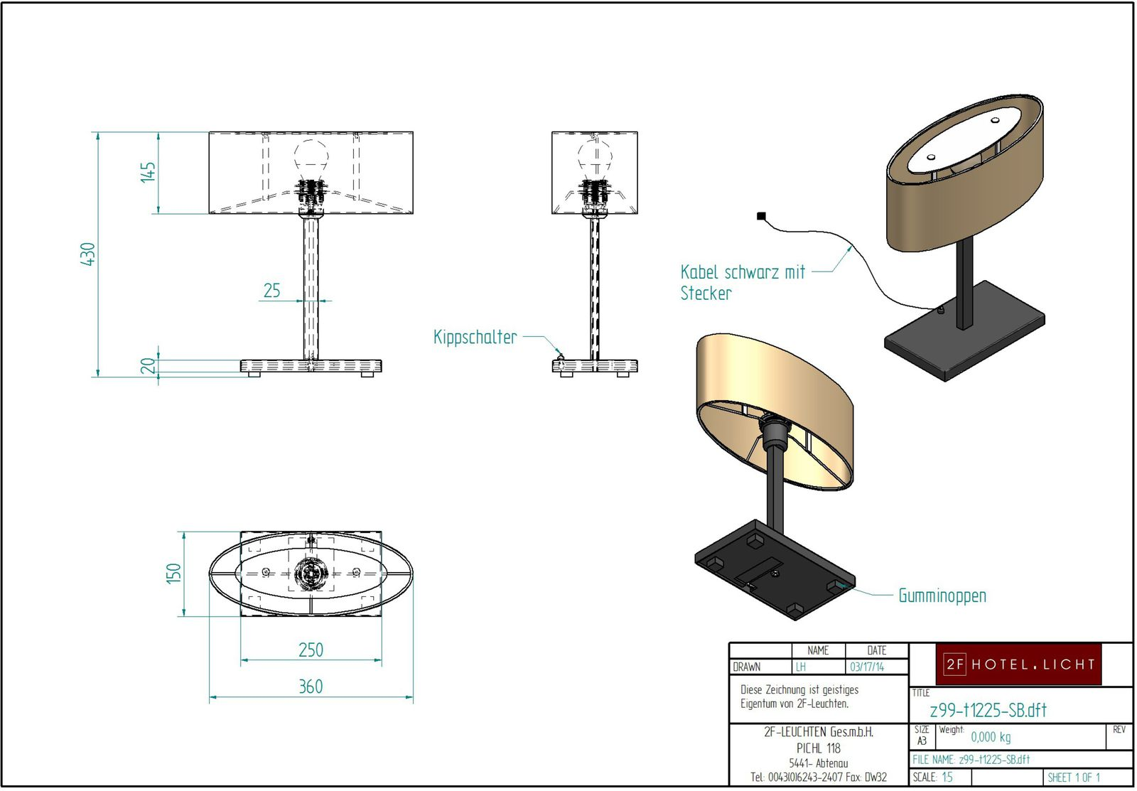 Table lamp 1flg., height=420mm, shade: length=360mm, wide=150mm, height=145mm, surface: chrome, technical details: 1xE27, 11W